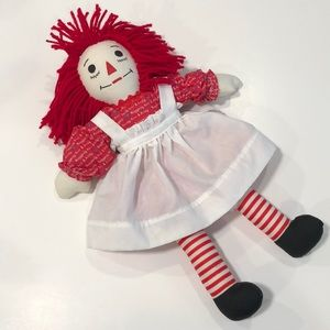 Vintage Homemade Raggedy Anne Doll